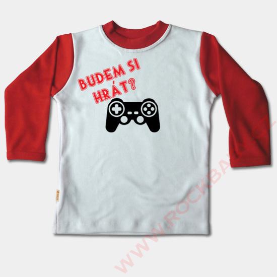 Dětské tričko dlouhý rukáv - Budem si hrát  530abd2005