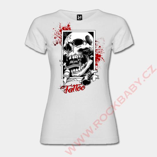 Dámske tričko - Lebka tattoo ... 5a1e17d7a43