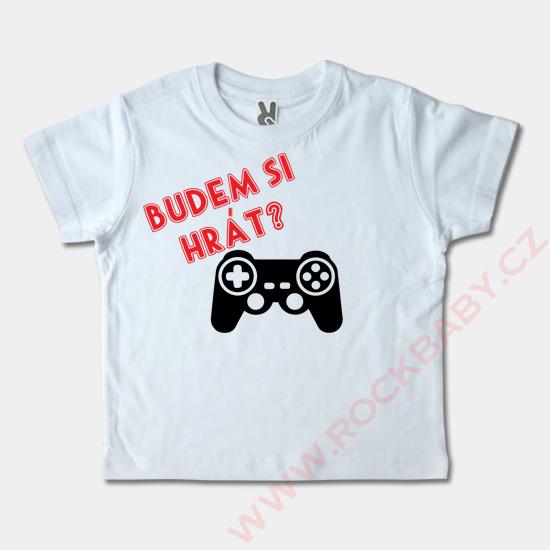 Dětské tričko krátký rukáv - Budem si hrát  24872e5667